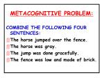 metacognitive problem