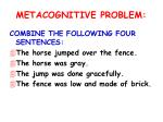metacognitive problem1