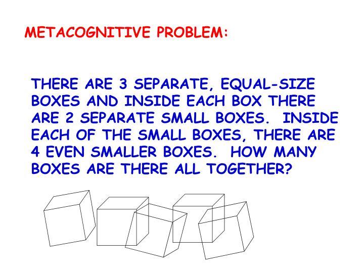 METACOGNITIVE PROBLEM: