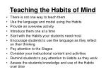 teaching the habits of mind