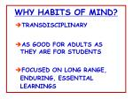 why habits of mind