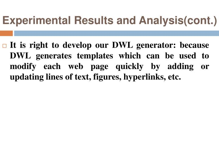 Experimental Results and Analysis(cont.)