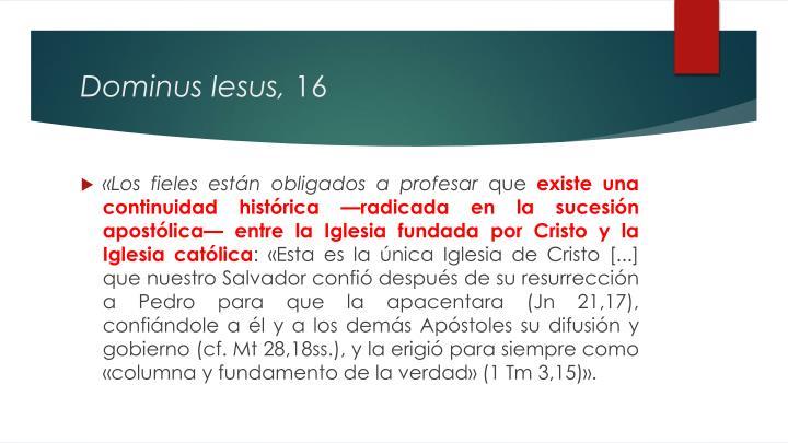 Dominus Iesus,