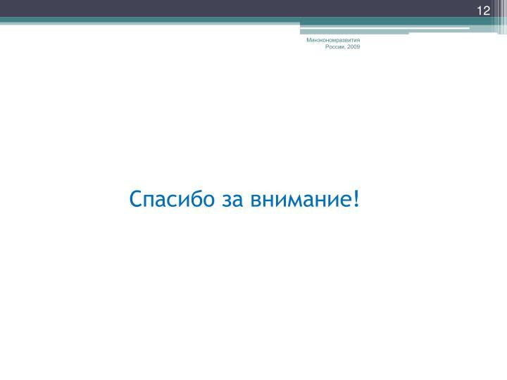 Минэкономразвития России, 2009
