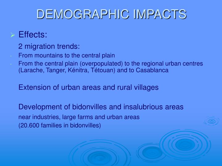 DEMOGRAPHIC IMPACTS