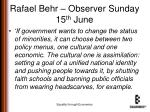 rafael behr observer sunday 15 th june