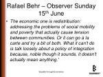 rafael behr observer sunday 15 th june1
