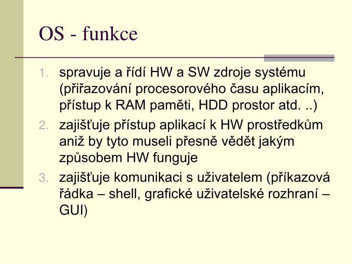 OS - funkce