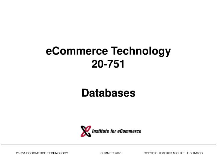 Ecommerce technology 20 751 databases