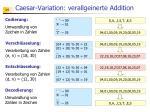 caesar variation verallgeinerte addition