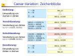 caesar variation zeichenbl cke