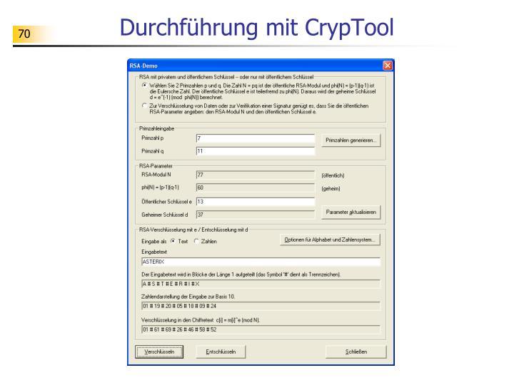 Durchführung mit CrypTool