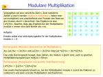 modulare multiplikation