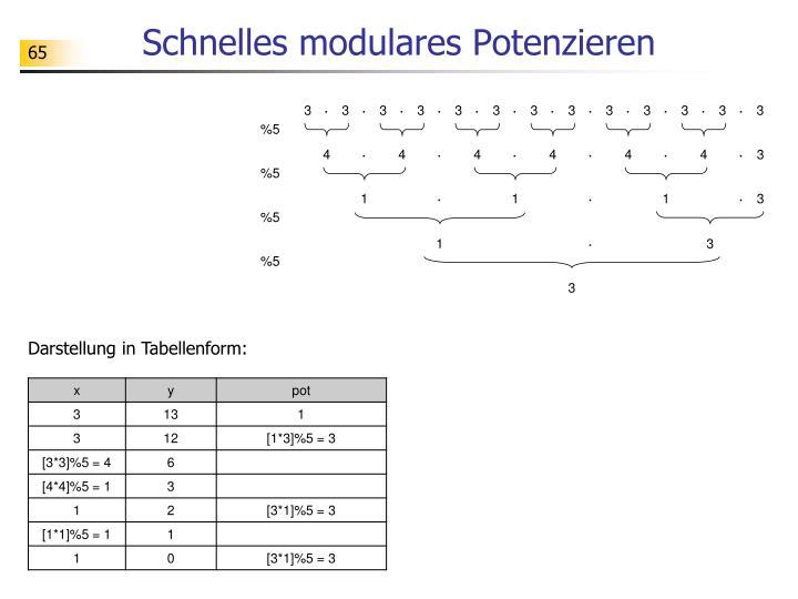 Schnelles modulares Potenzieren