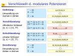 verschl sseln d modulares potenzieren