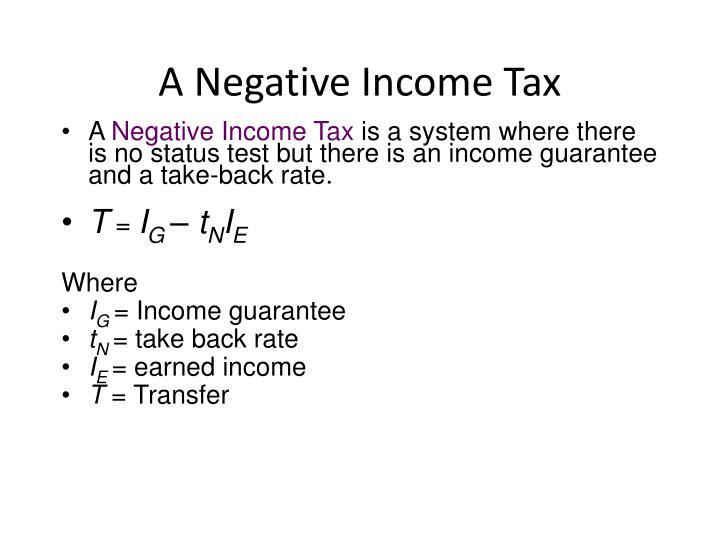 A Negative Income Tax