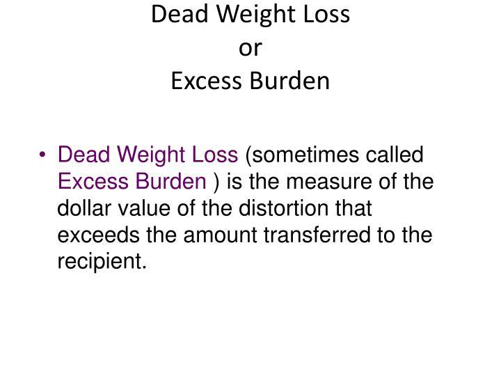 Dead Weight Loss