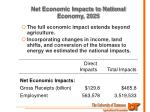 net economic impacts to national economy 2025