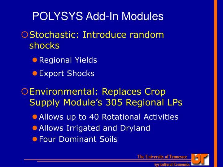 POLYSYS Add-In Modules