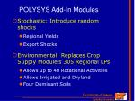 polysys add in modules