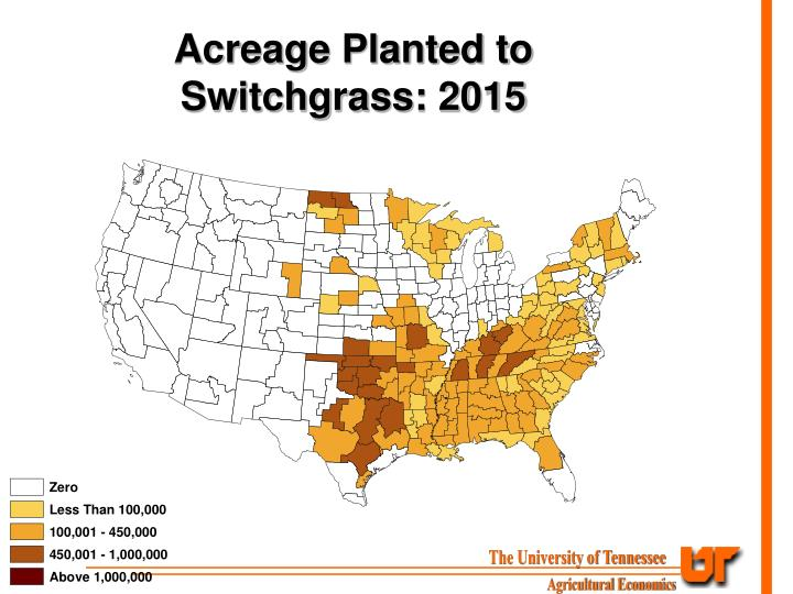 Acreage Planted to Switchgrass: 2015