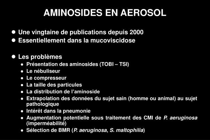 AMINOSIDES EN AEROSOL