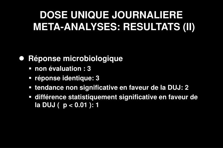 DOSE UNIQUE JOURNALIERE