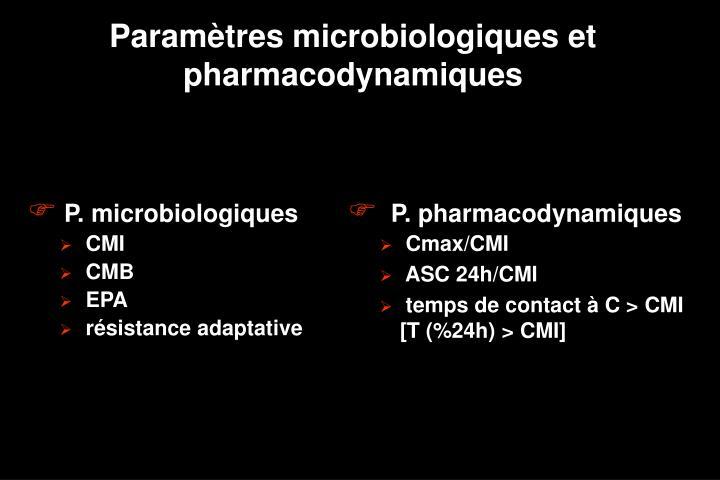 P. microbiologiques