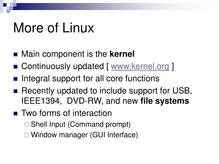 More of Linux