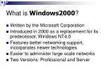 what is windows2000