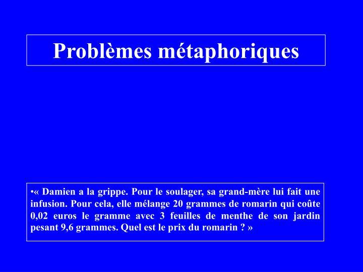 Problèmes métaphoriques