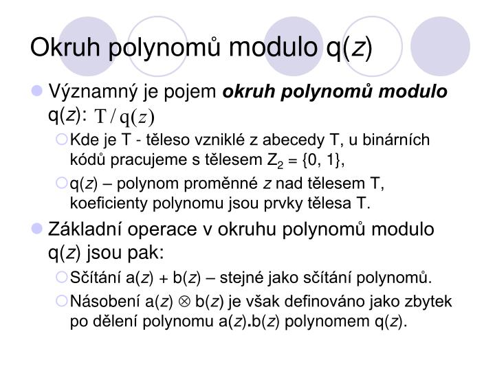 Okruh polynomů