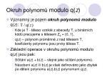 okruh polynom modulo q z