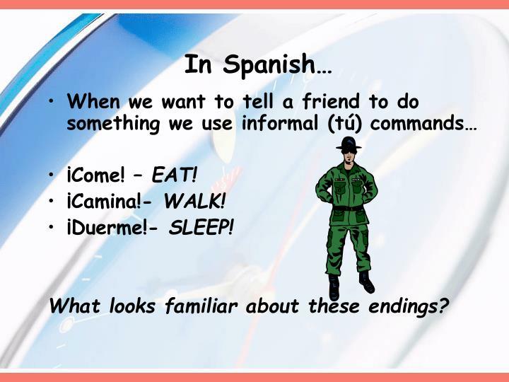 In Spanish…