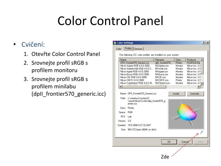 Color Control Panel