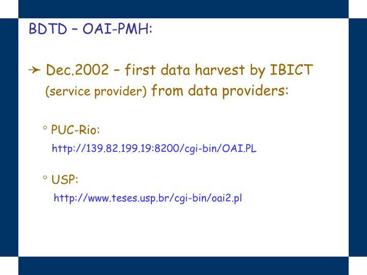 BDTD – OAI-PMH: