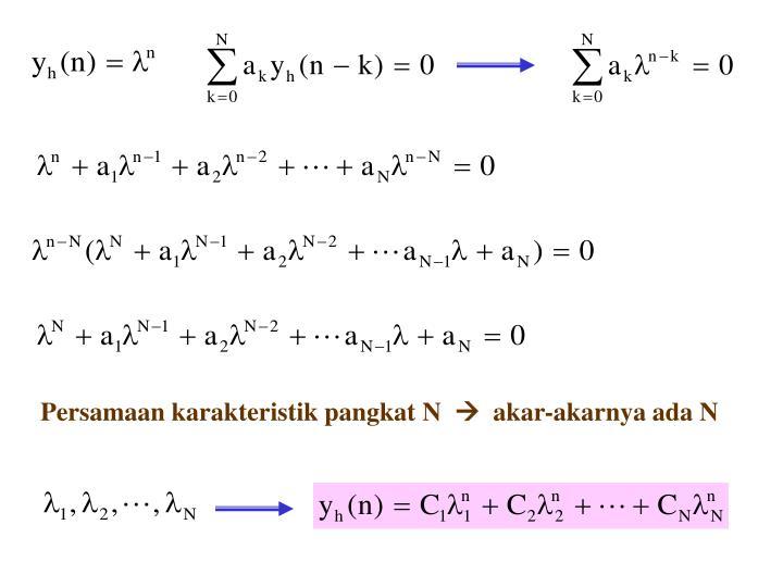 Persamaan karakteristik pangkat N