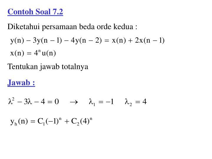 Contoh Soal 7.2