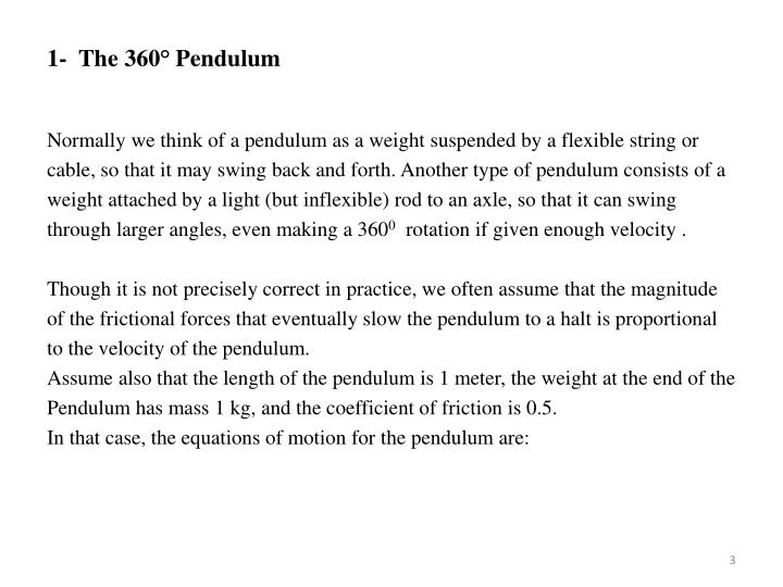 1-  The 360° Pendulum
