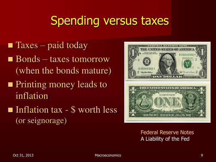 Spending versus taxes
