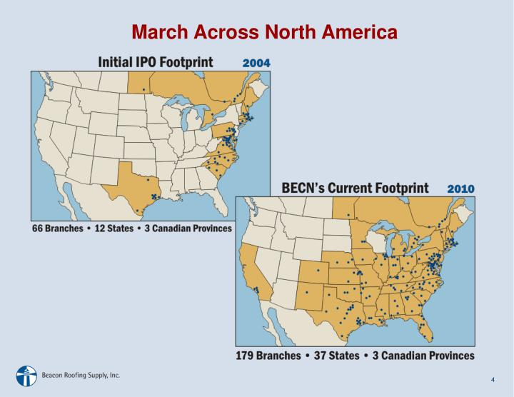 March Across North America