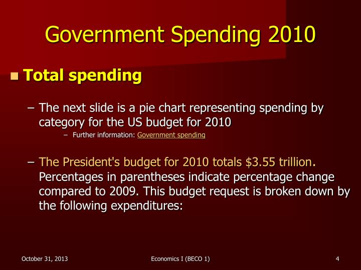 Government Spending 2010