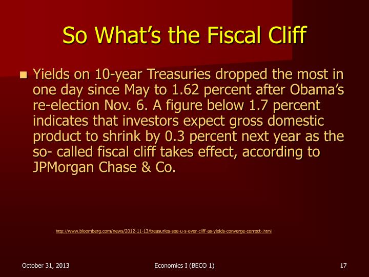 So What's the Fiscal Cliff