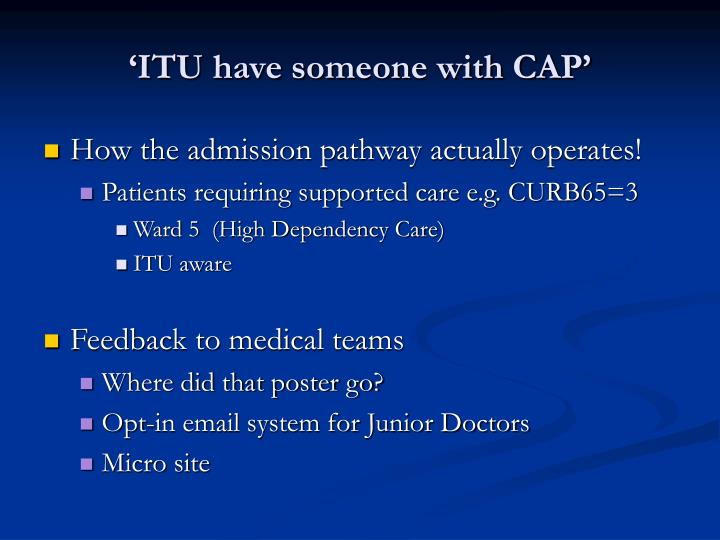'ITU have someone with CAP'