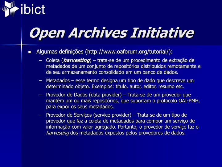 Open archives initiative1