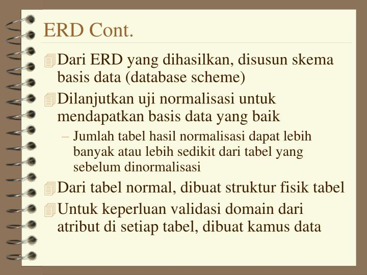 ERD Cont.