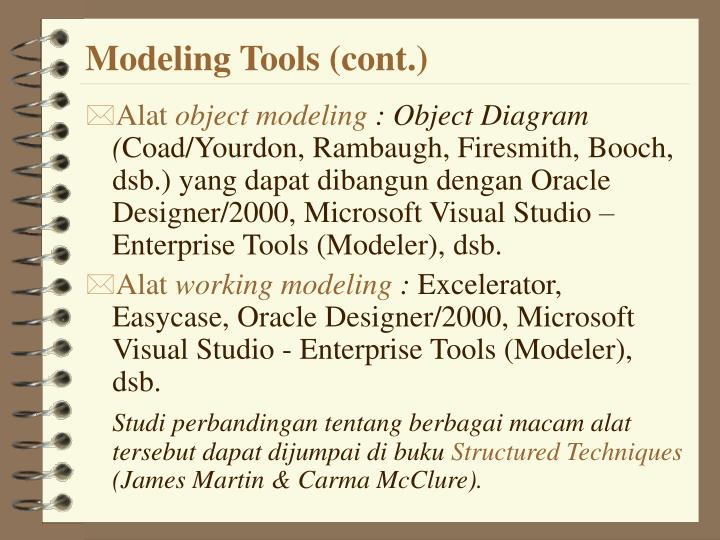 Modeling Tools (cont.)