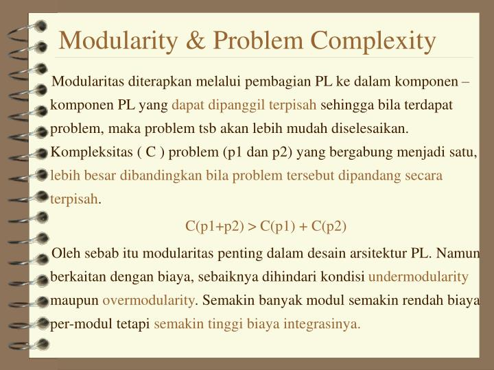 Modularity & Problem Complexity