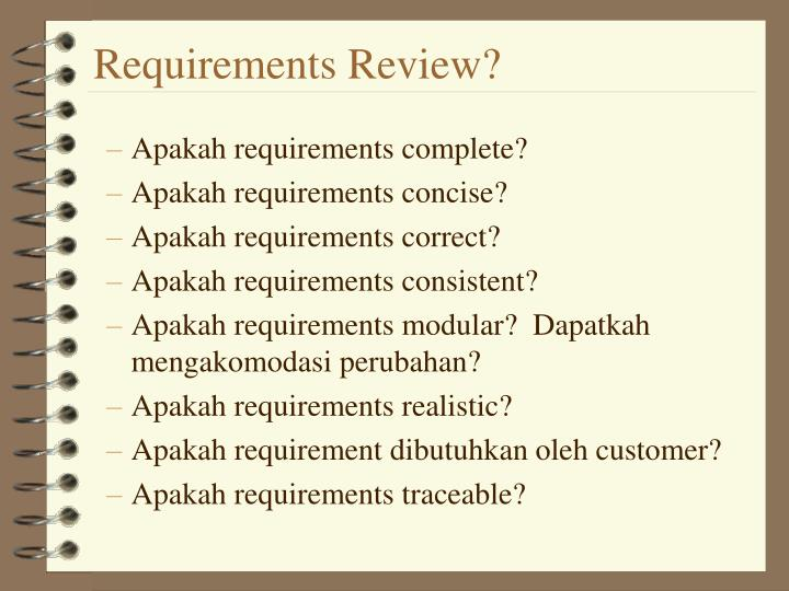 Requirements Review?