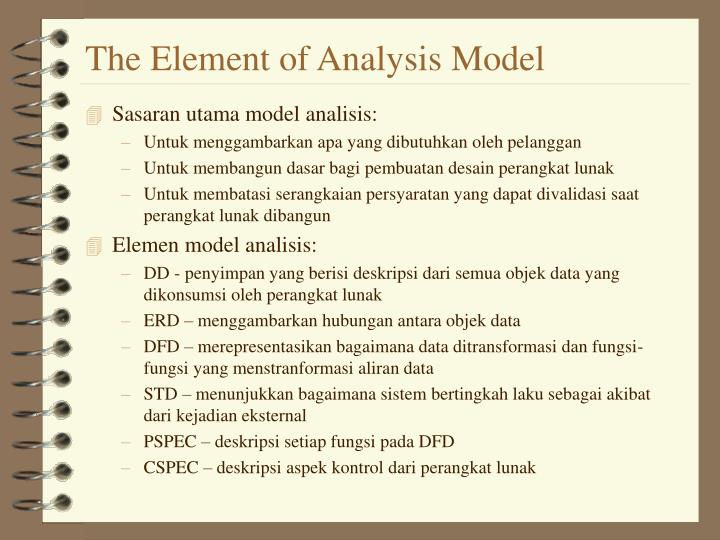 The Element of Analysis Model